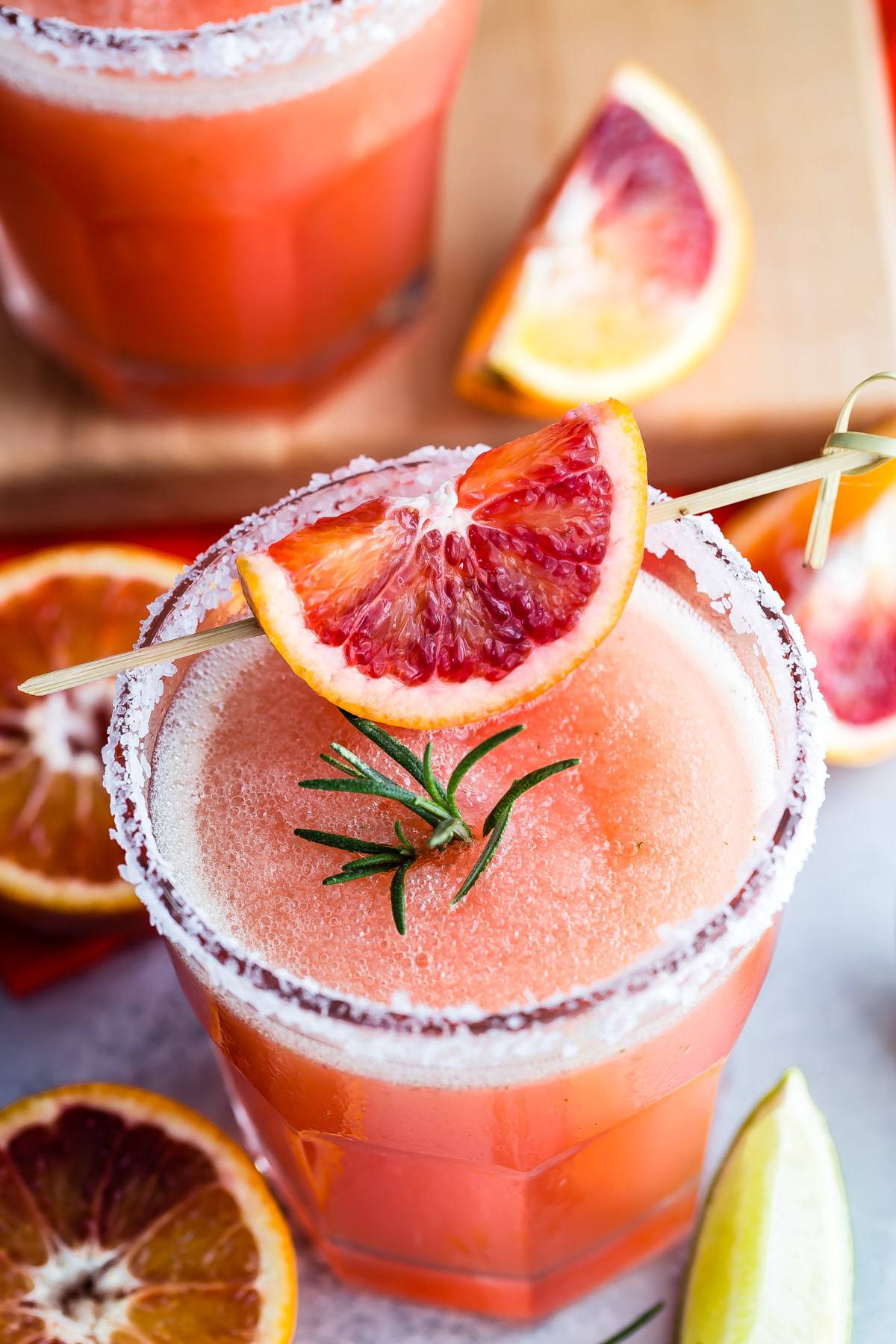 Blood Orange Margarita with Rosemary - Foodness Gracious