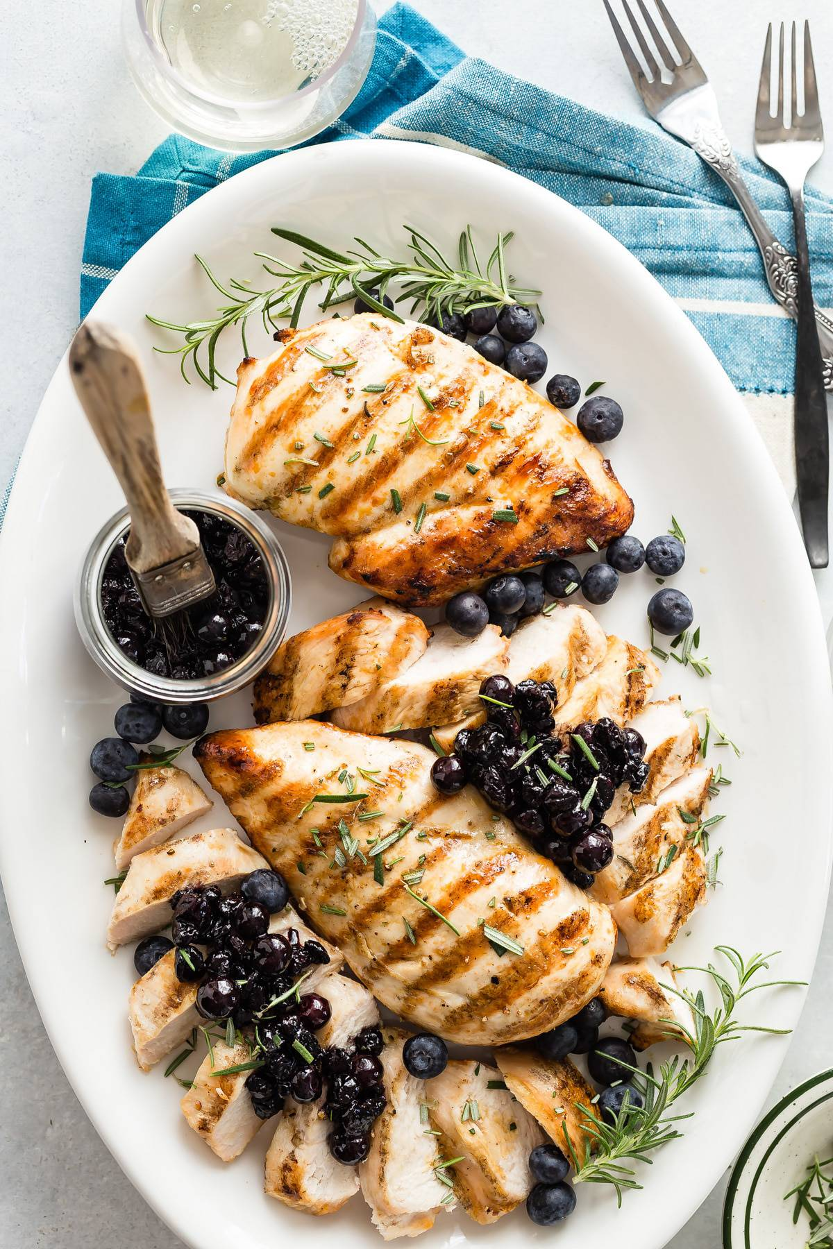 Grilled Chicken Breast with Savory Blueberry Relish