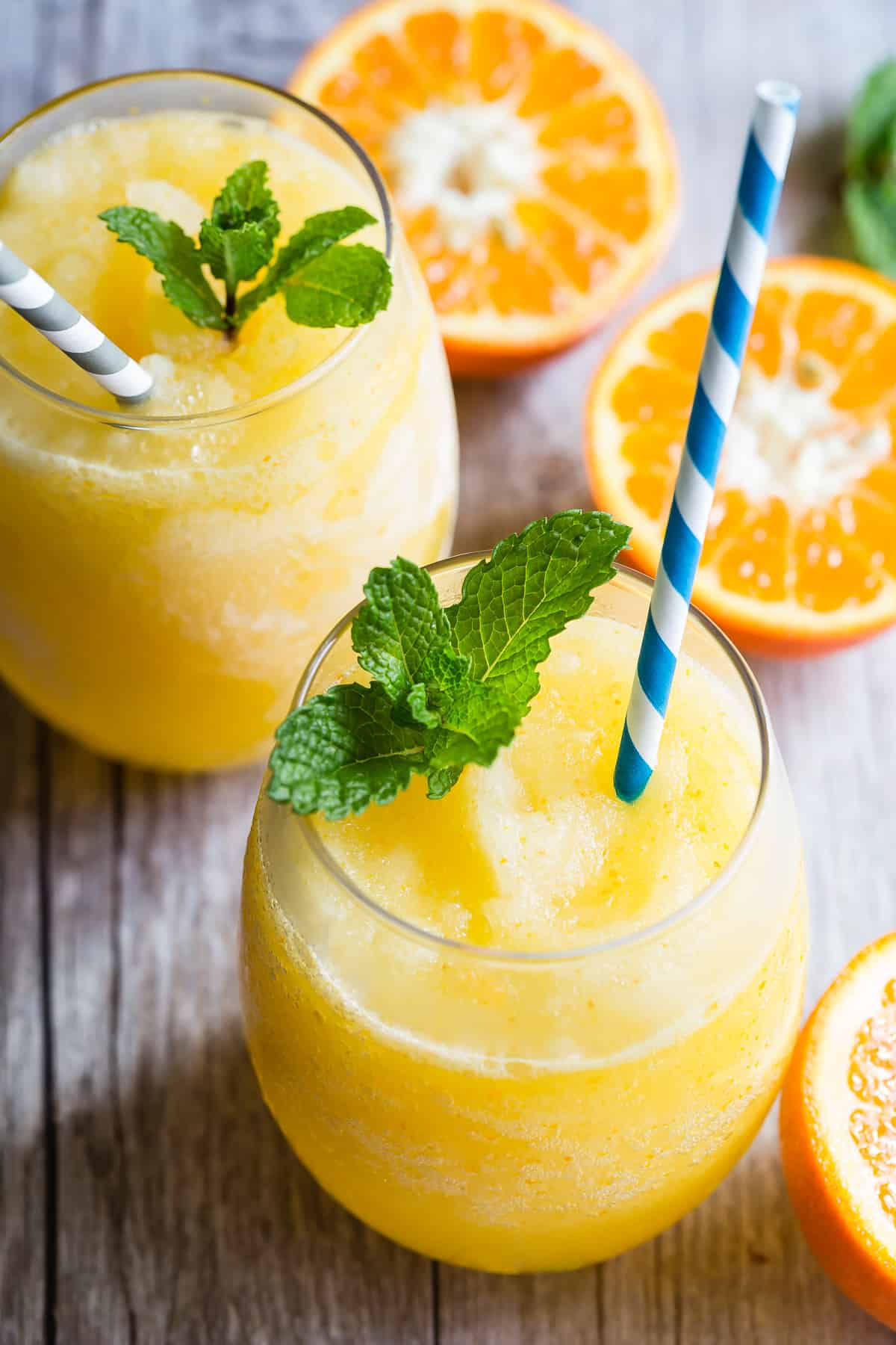 Frozen Prosecco blended into a perfect summer drink!