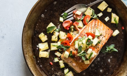 Pan Seared Salmon with Pineapple Salsa