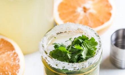 Grapefruit Margarita with Fresh Cilantro