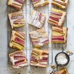 Fresh Baked Rhubarb Lemon Bars