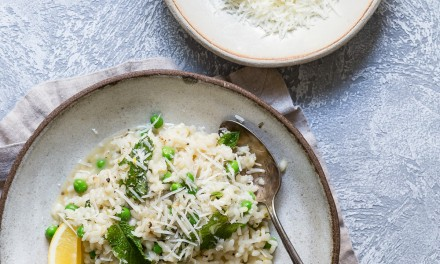Pea and Mint Risotto with Lemon and Parmesan