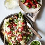 Strawberry Salad with Grilled Romaine and Cotija Cheese
