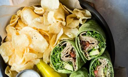 Easy Veggie Wrap in a Spinach Tortilla