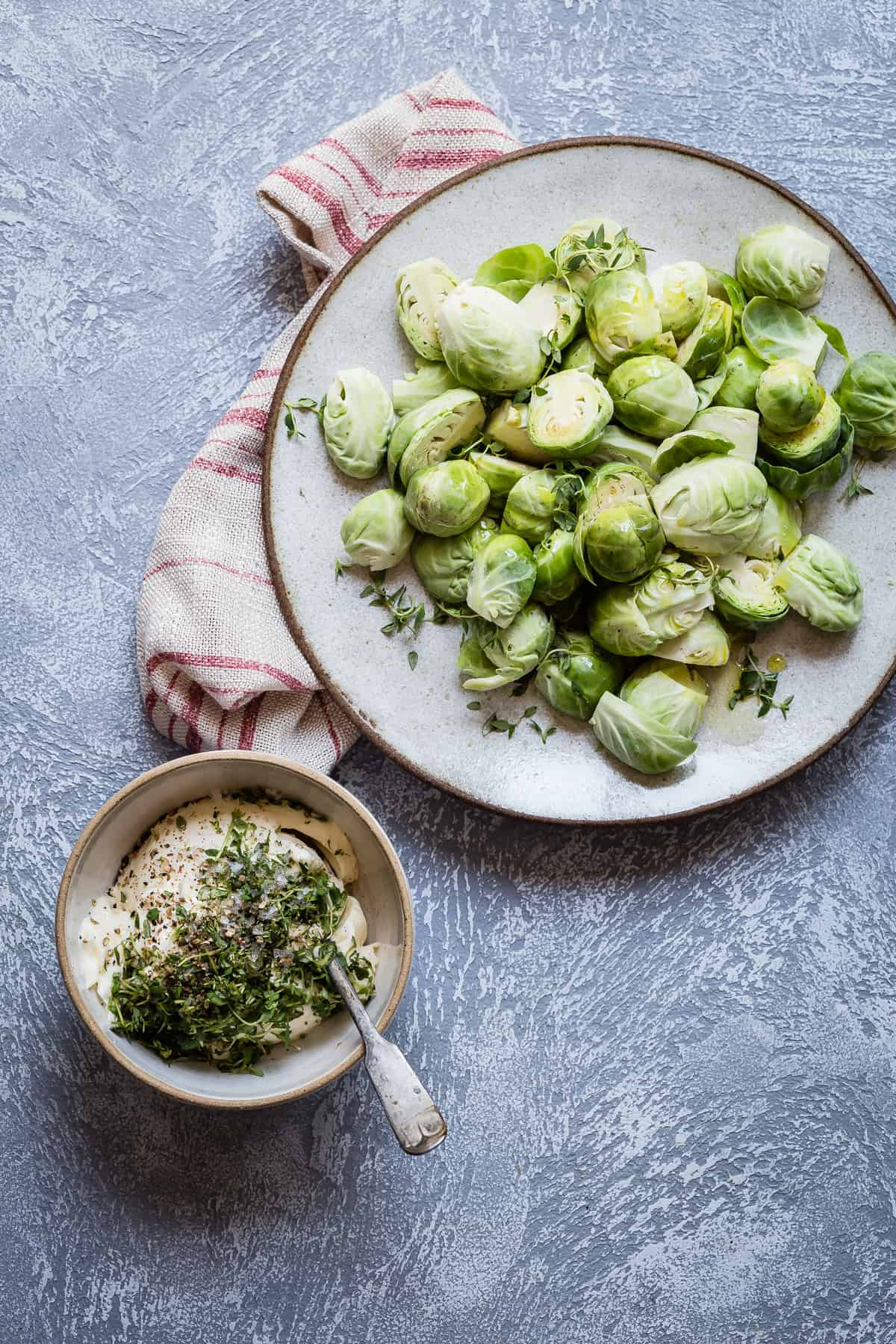 Try roasting your brussels sprouts and then tossing them in butter!