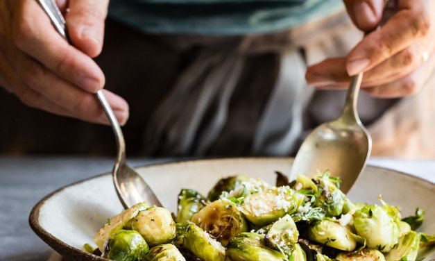 Buttery Roasted Thyme Brussels Sprouts