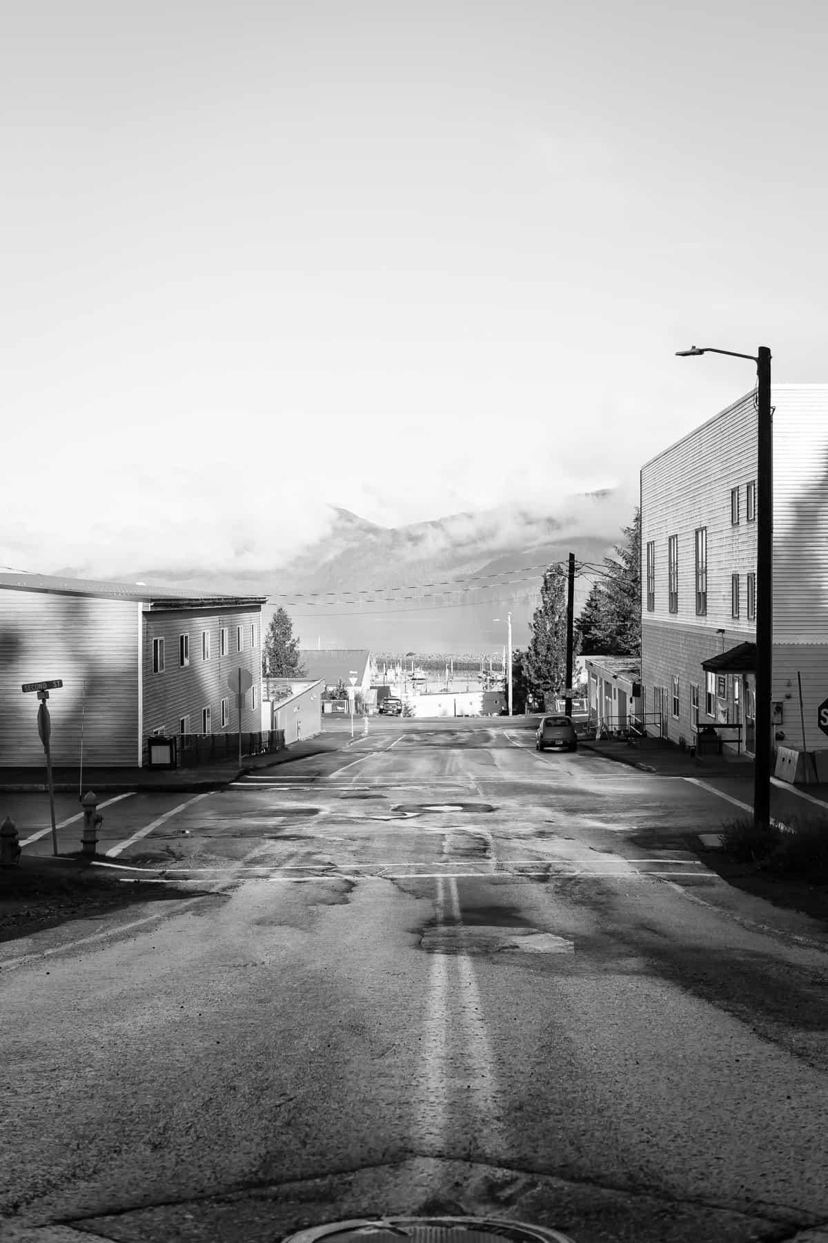 A street in Cordova Alaska