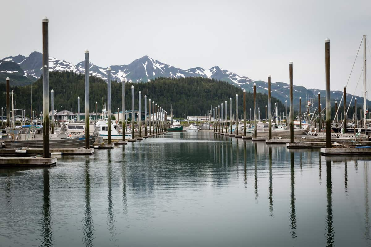 Cordova harbor in Alaska