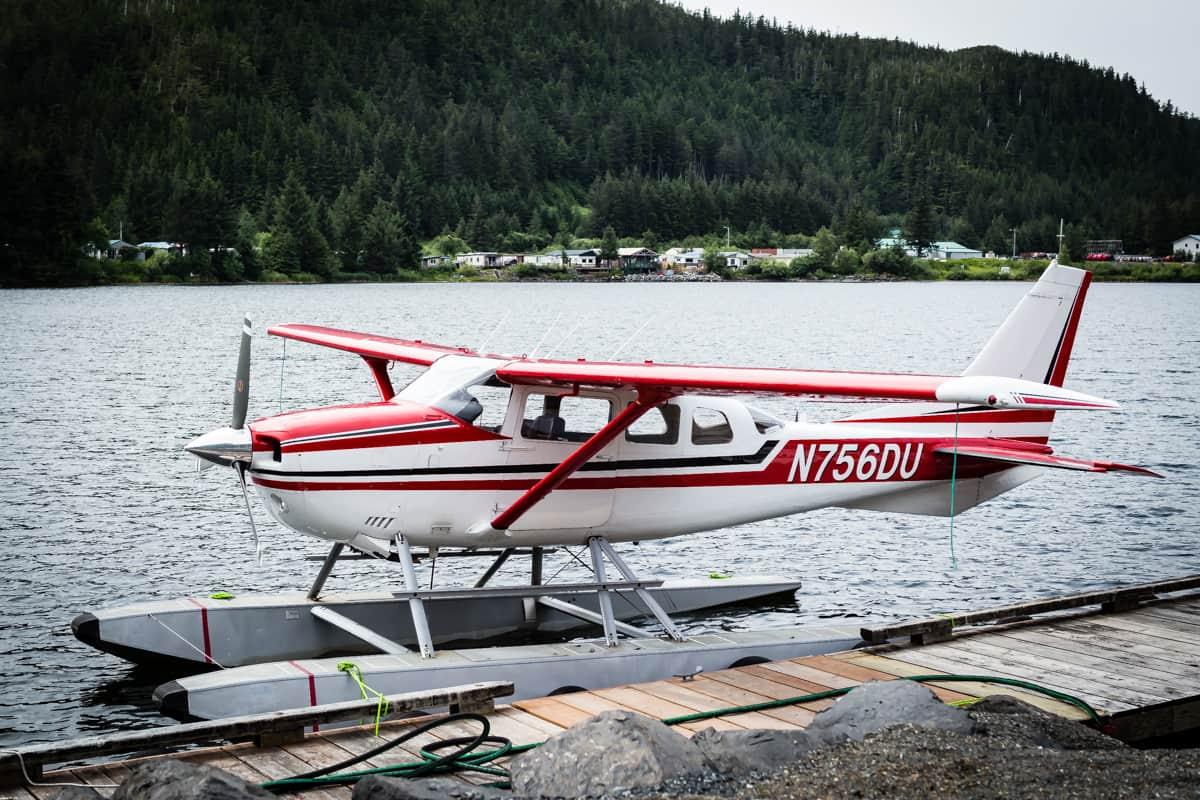A sea plane in Alaska