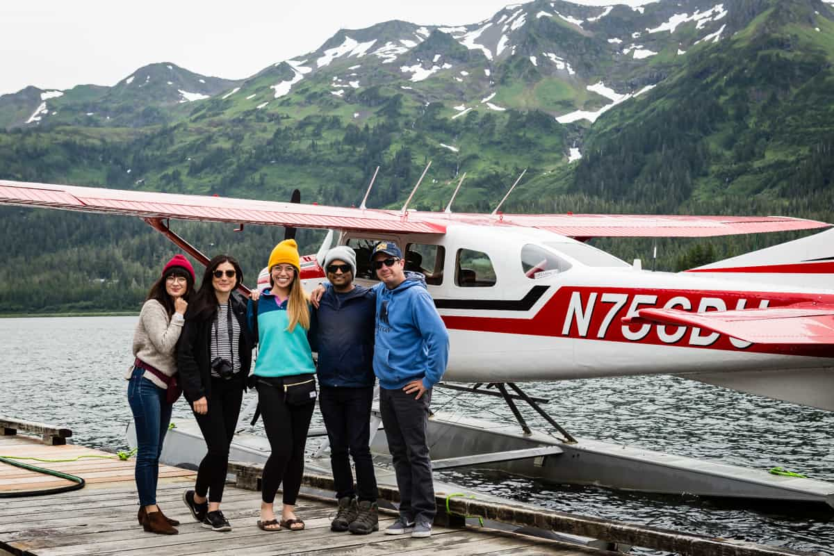 About to fly on a sea plane in Alaska