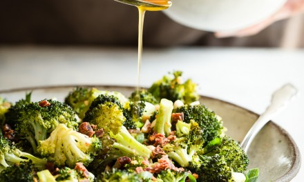 Roasted Broccoli with Chili Lime Dressing