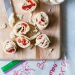 Tortilla and Garden Vegetable Cream Cheese Pinwheels