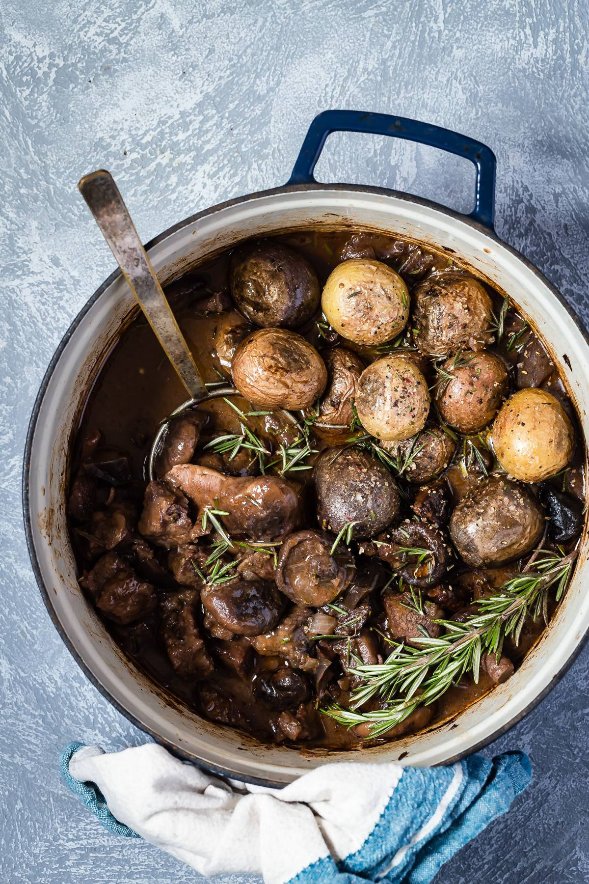 Beef Casserole with Mushrooms and Eggplant
