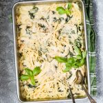 Chicken Tetrazzini with Spinach and Parmesan