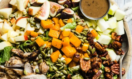 Fall Salad with Grilled Chicken and Roasted Veggies