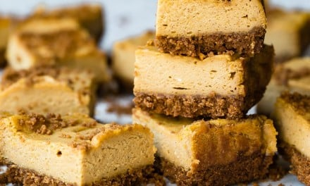 Pumpkin Cheesecake Cookie Butter Bars