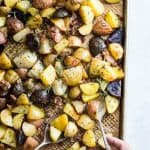 Garlic Roasted Potatoes with Pancetta and Rosemary