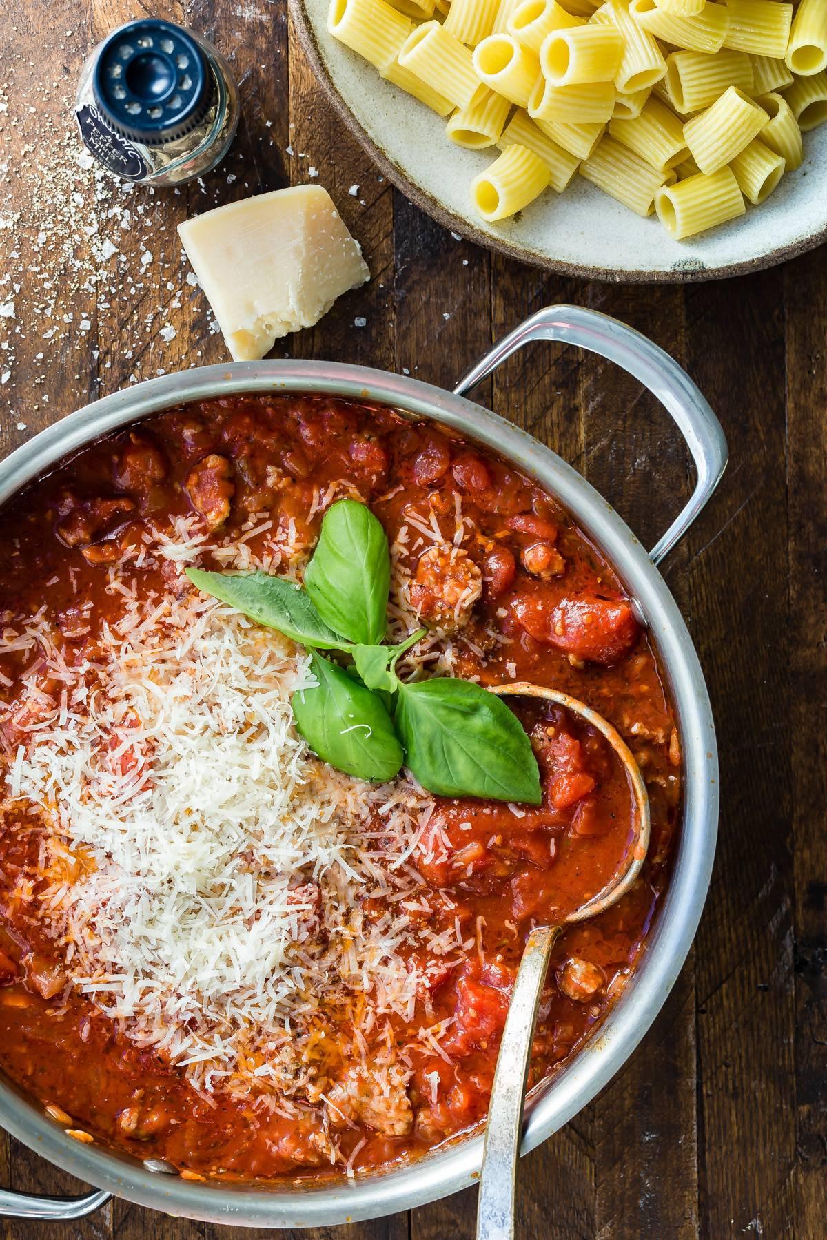 Who loves Italian sausage rigatoni for dinner?