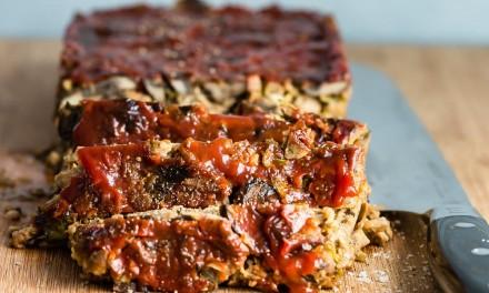 Vegetarian Meat Loaf with Lightlife  Smart Sausages