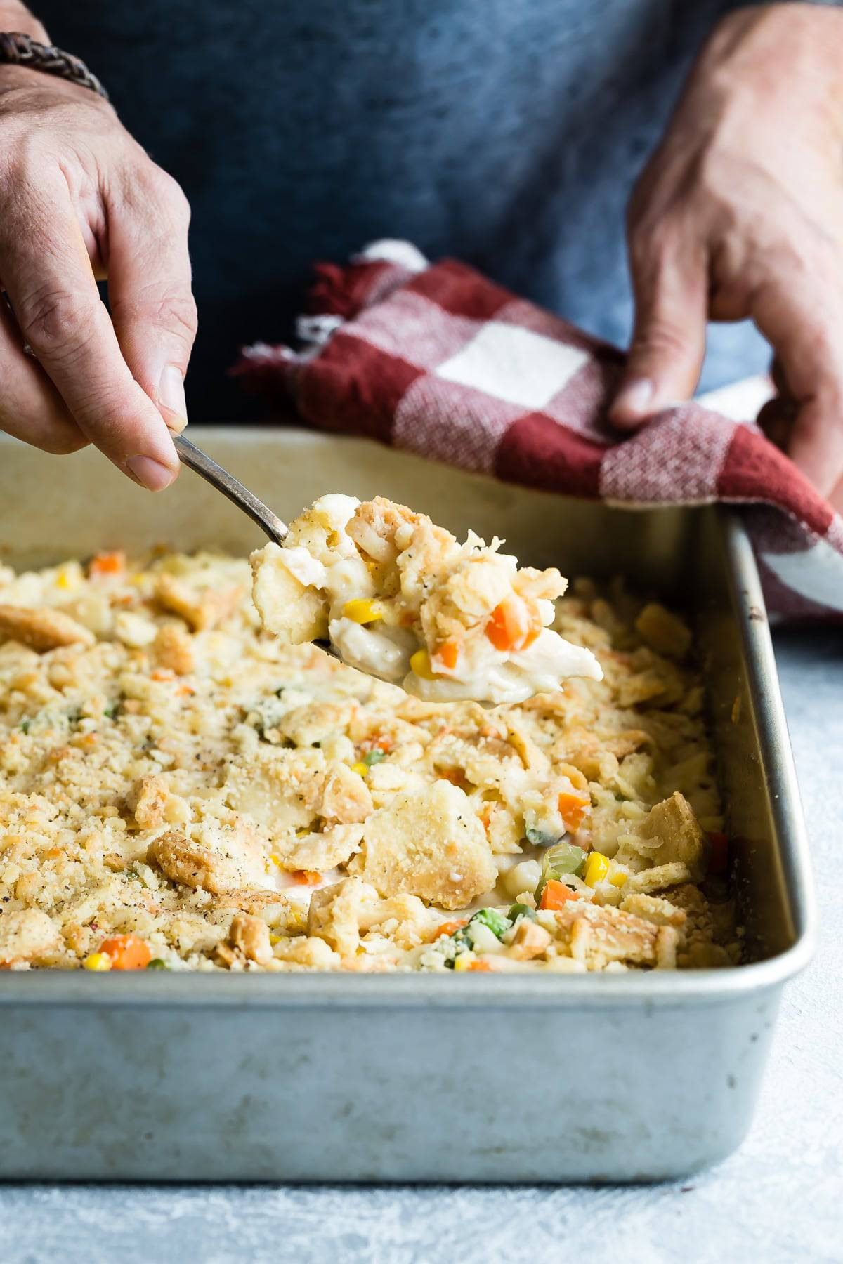 How about a huge scoop of turkey pot pie mac and cheese for dinner?