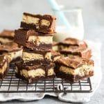 Chocolate Brownies Stuffed with Shortbread Cookies