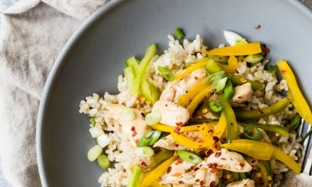 Light Sweet and Sour Chicken with Brown Rice