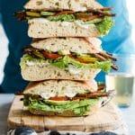 Smoky TTLA Vegan Sandwich