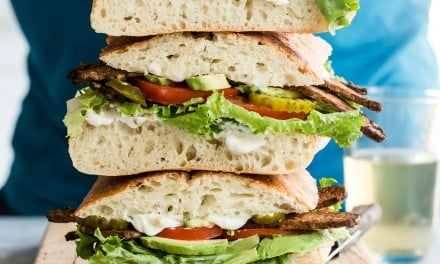 Smoky TTLA Vegan Sandwich