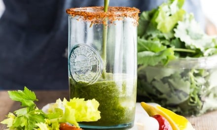 Bloody Mary with Baby Kale and Tomato Juice