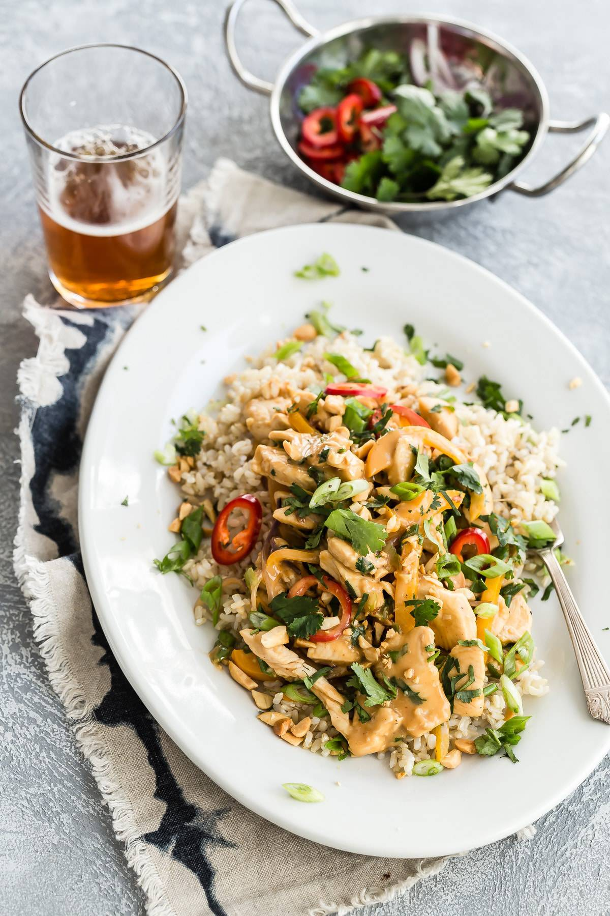 Chicken Stir Fry in a Spicy Thai Peanut Sauce - Foodness ...