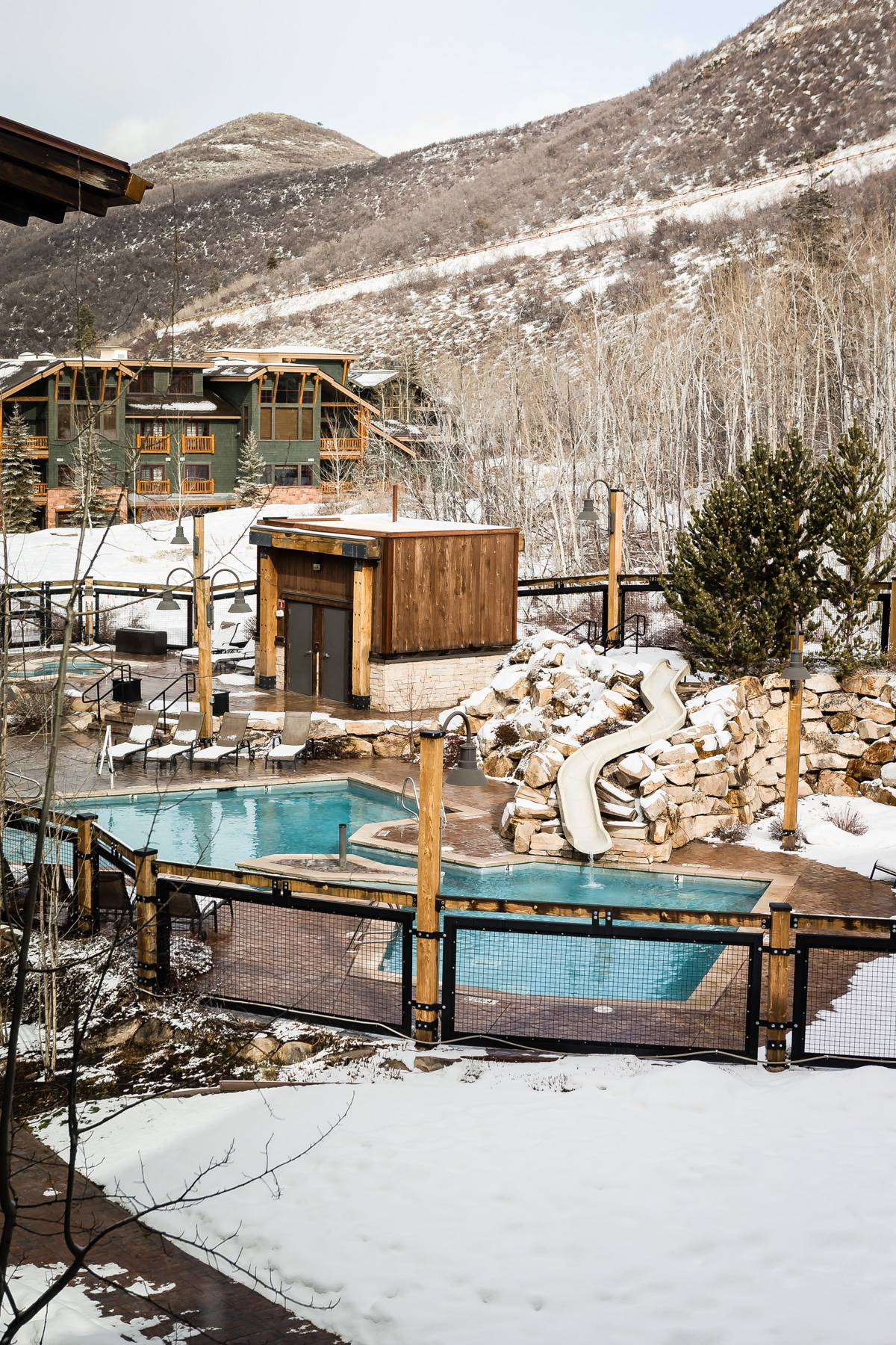 Heated swimming pool at Deer Valley Resort
