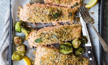 Easy Baked Salmon with a Parmesan Herb Crust