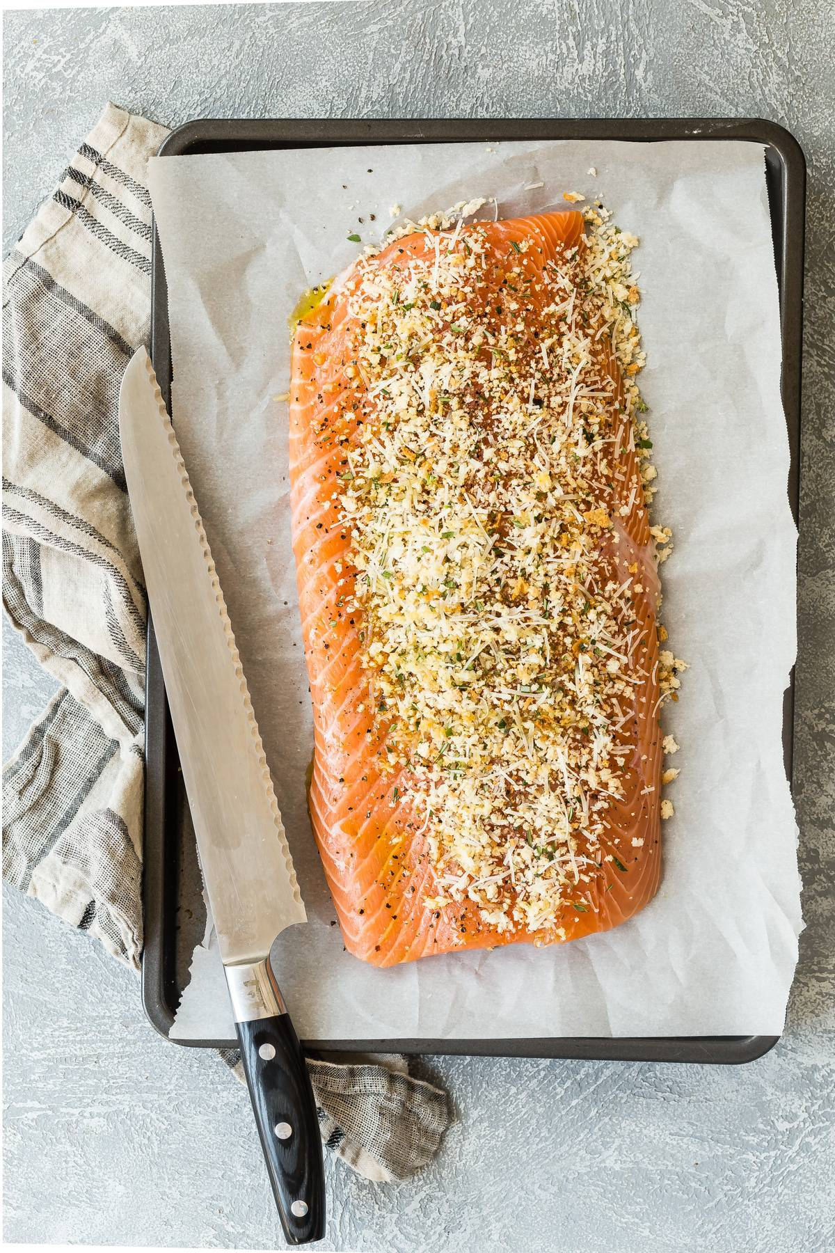 Fresh easy baked salmon