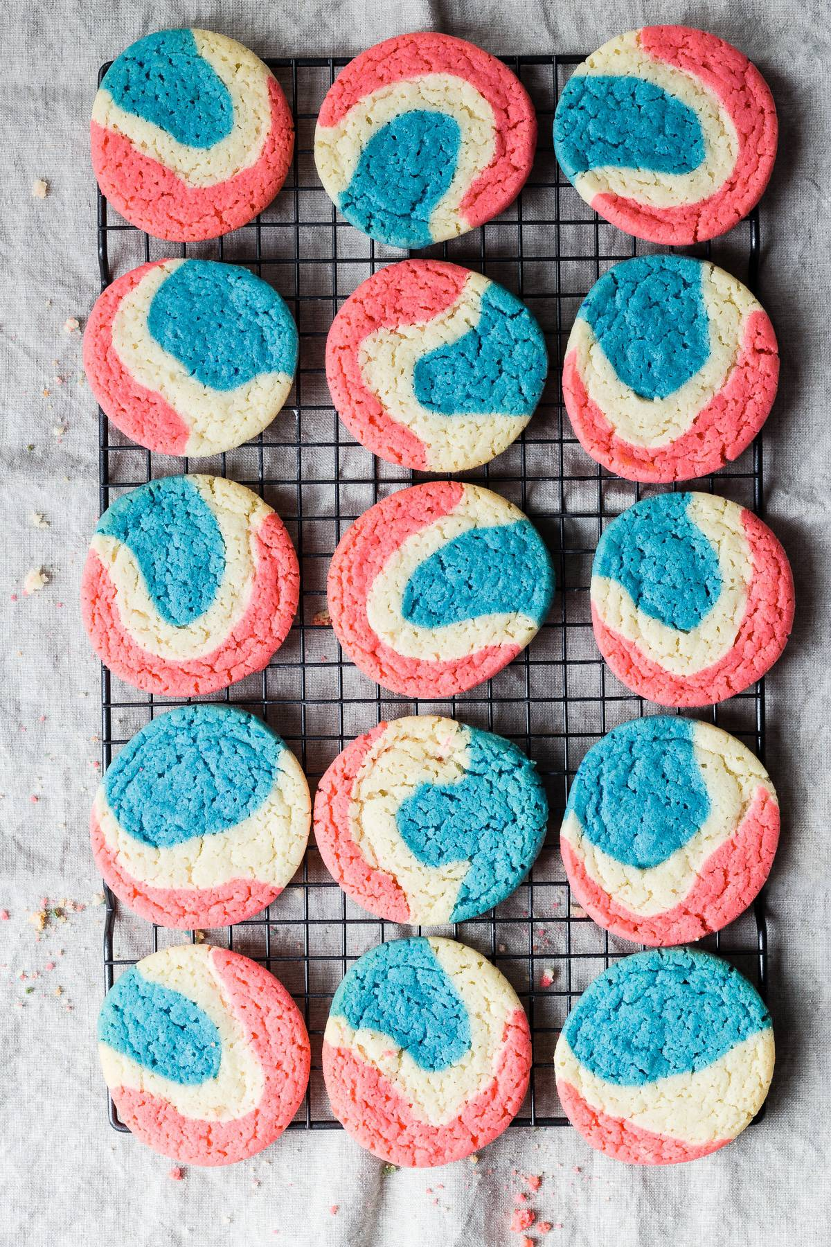 Red white and blue sugar cookies