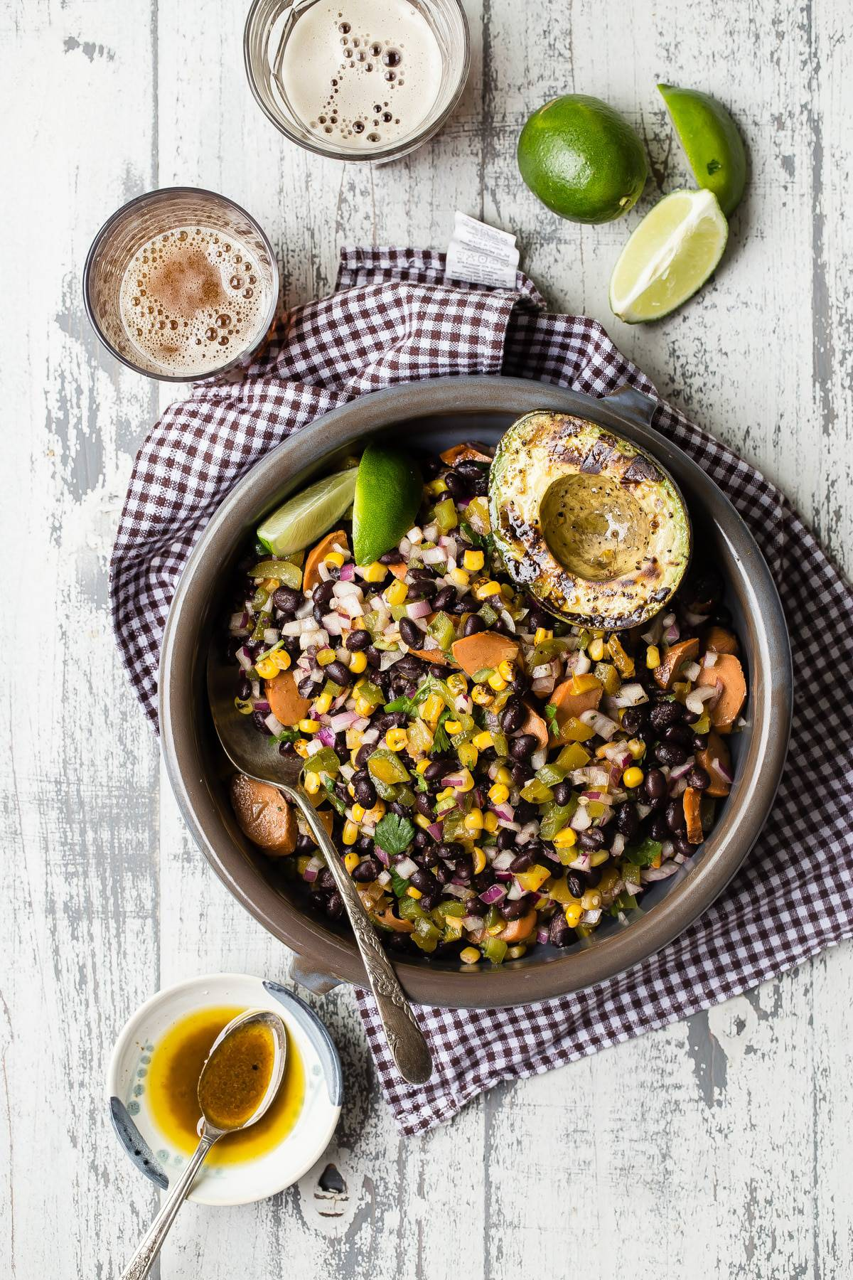 Nutritious vegetarian black bean salad