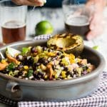 Black Bean Salad with Grilled Smart Dogs