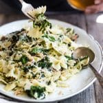 Farfalle Pasta with Bacon Kale and Mozzarella