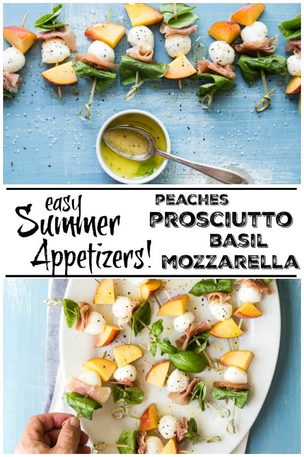 Easy peach skewers