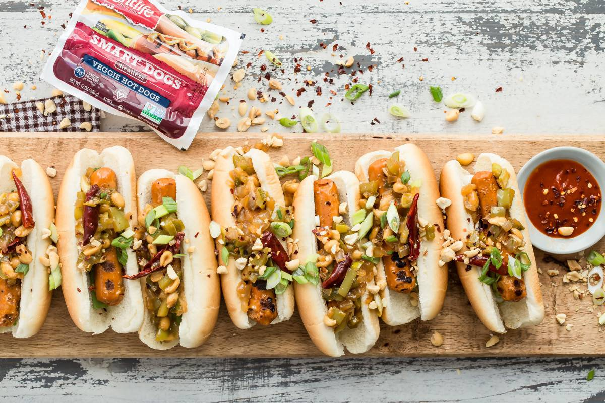 Healthy veggie hotdogs