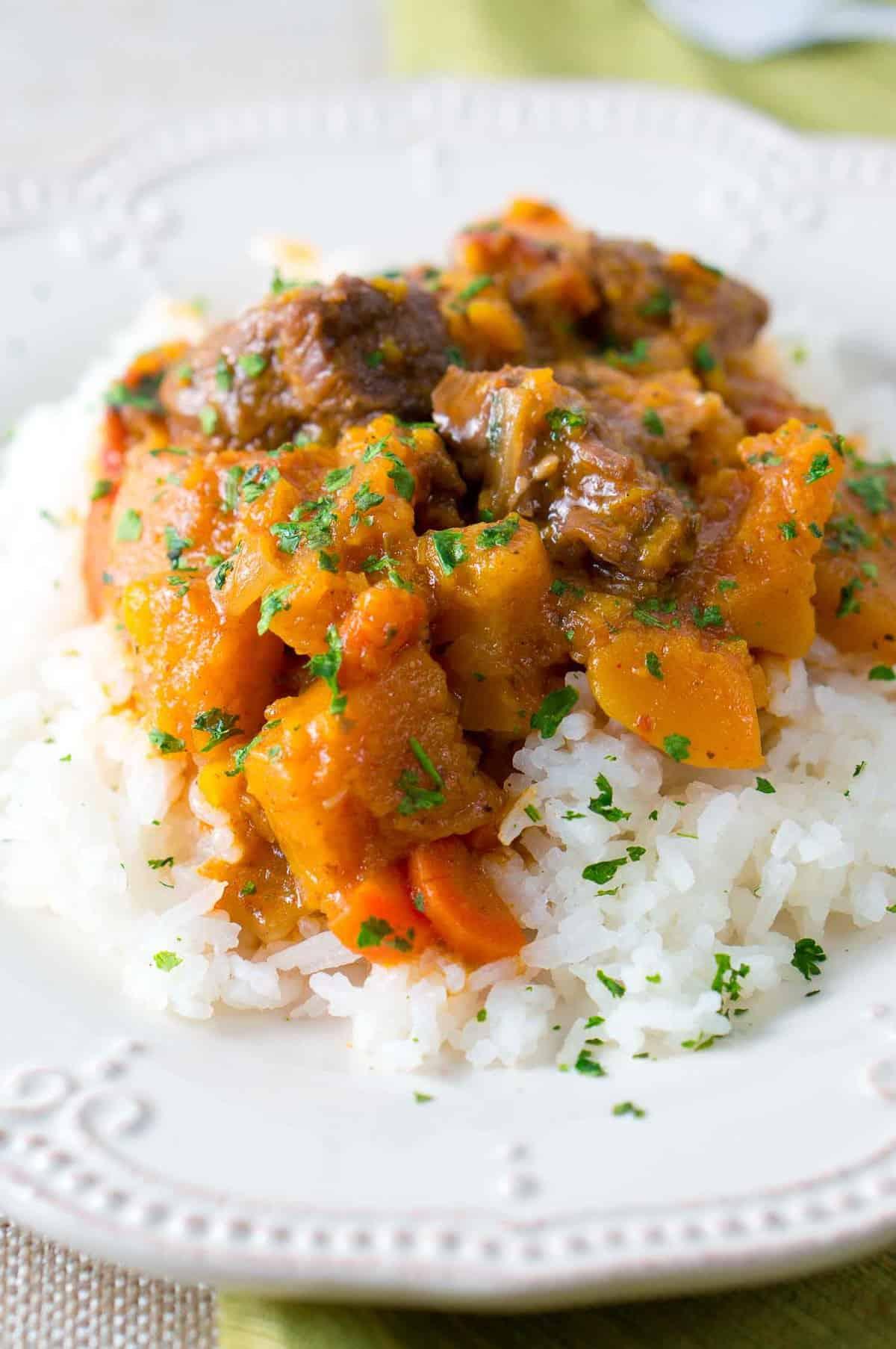 instant pot butternut beef stew