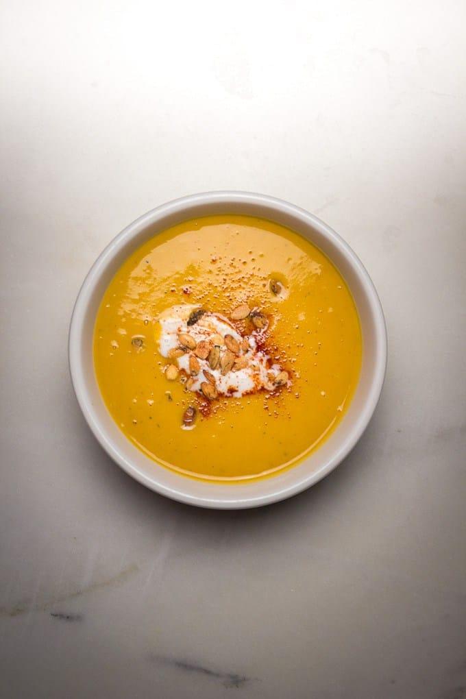 instant pot butternut apple soup