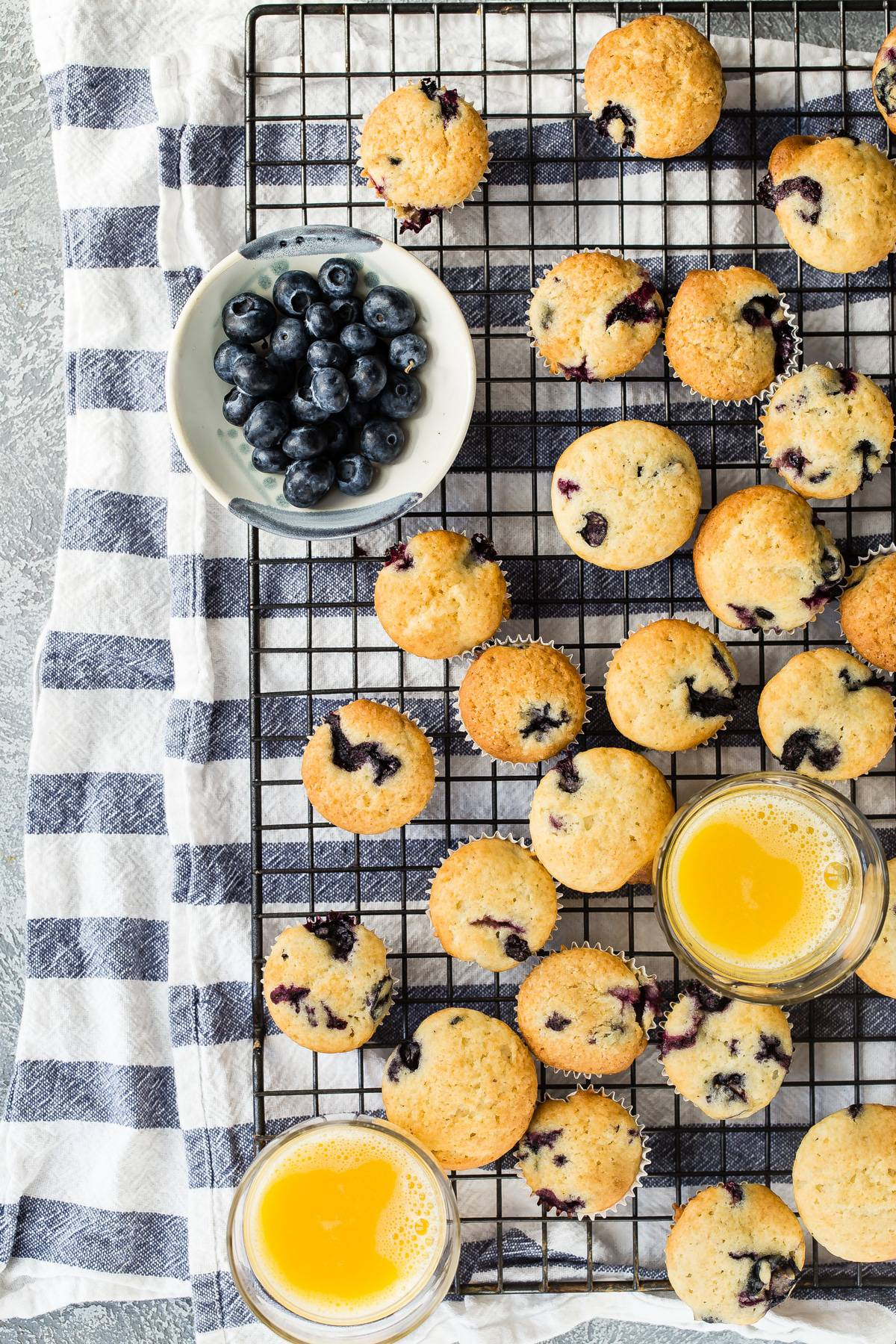 Easy mini blueberry muffins
