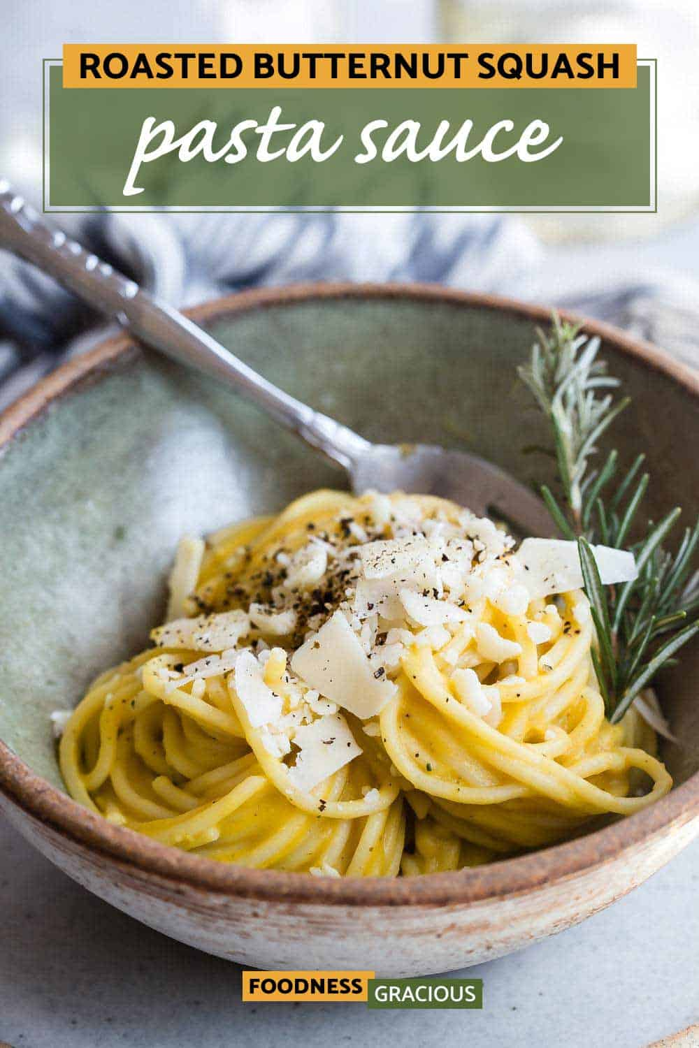 roasted butternut squash pasta sauce in a bowl