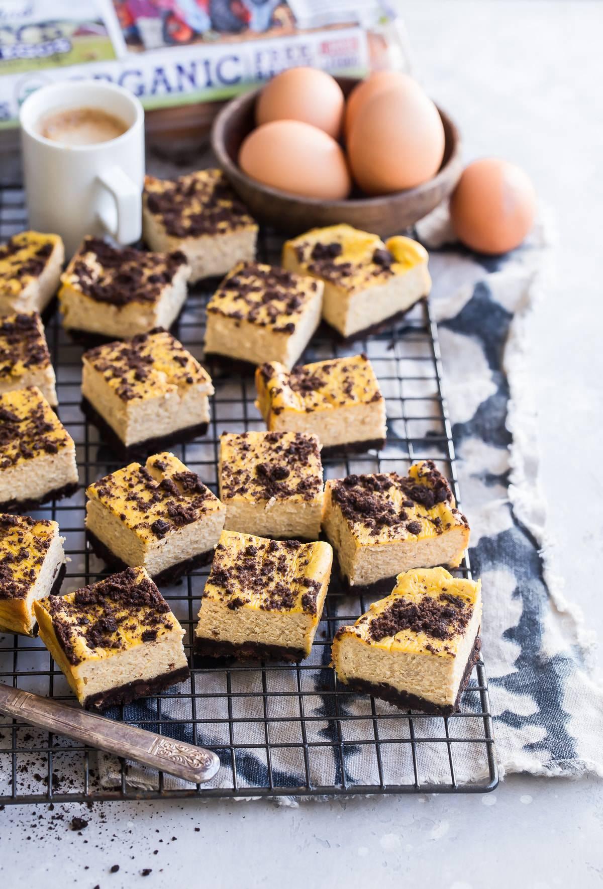 Pumpkin Chocolate Cheesecake Bars