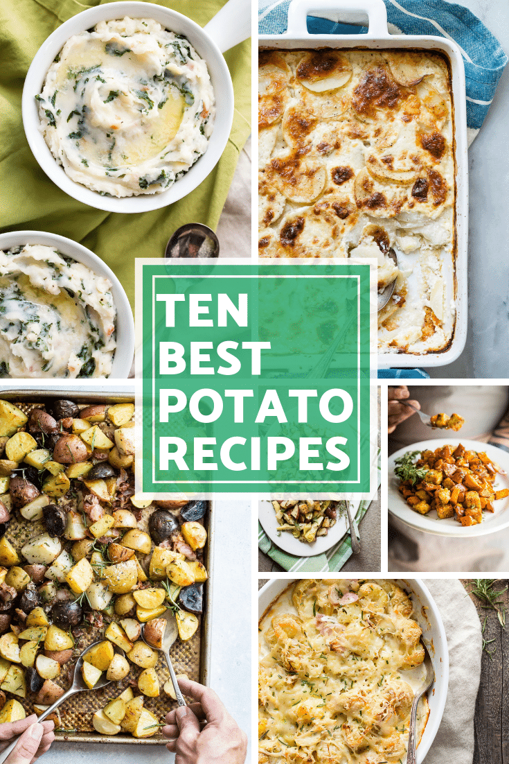 Check out my ten favorite potato recipes! They're all really easy to make and will go with anything you make this holiday season. #tenbestrecipes #potatorecipes #potatoes #foodnessgracious