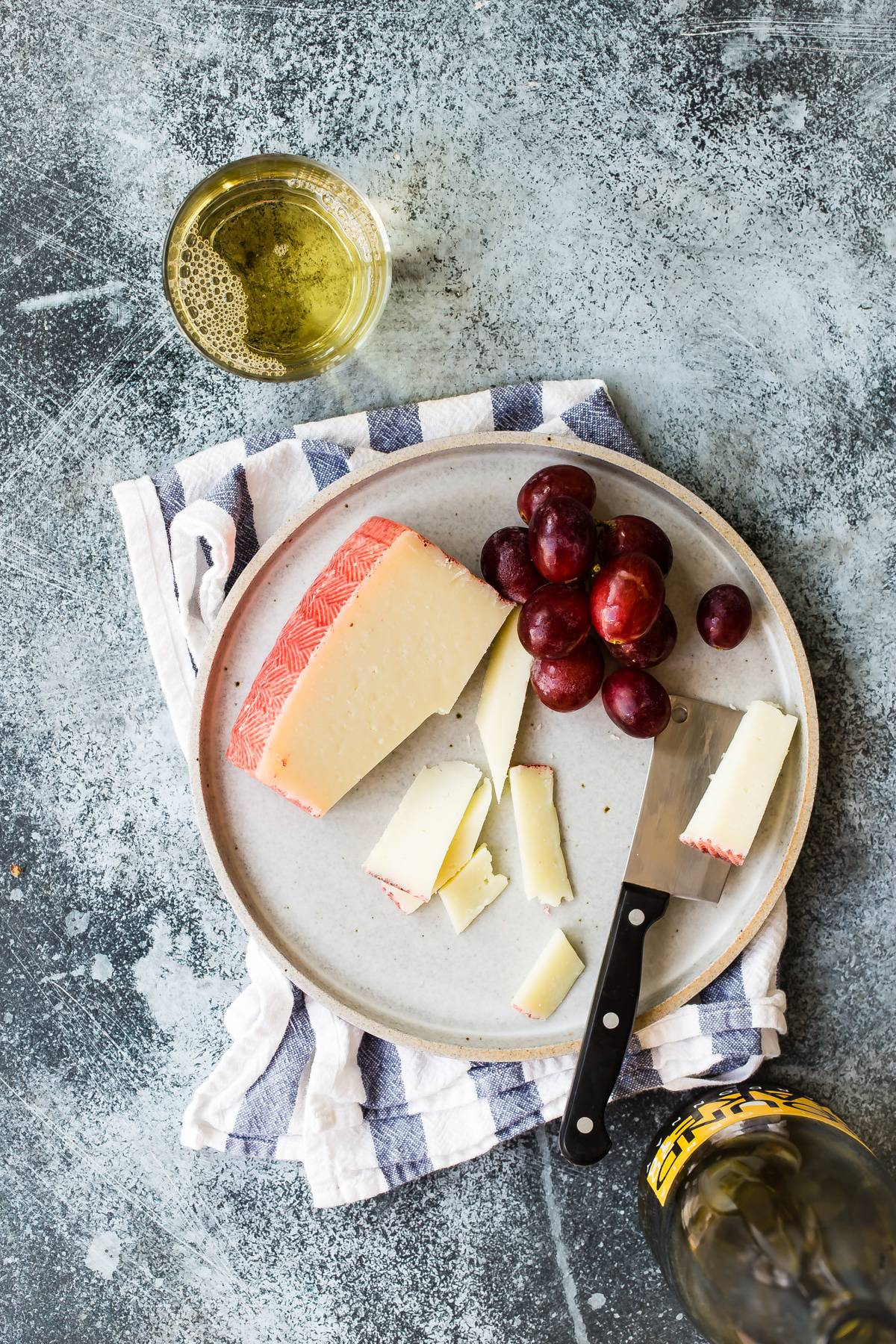 Manchego cheese for a cheese board
