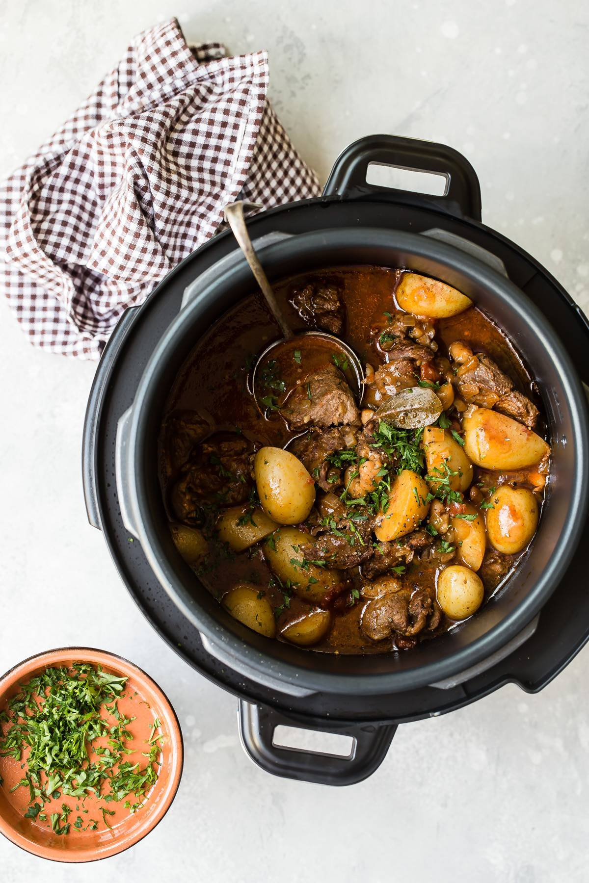 Pressure Cooker Lamb with potatoes