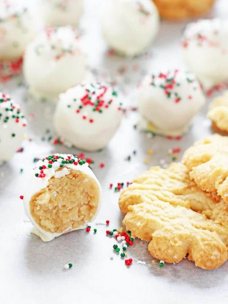 Sugar Christmas cookie truffles