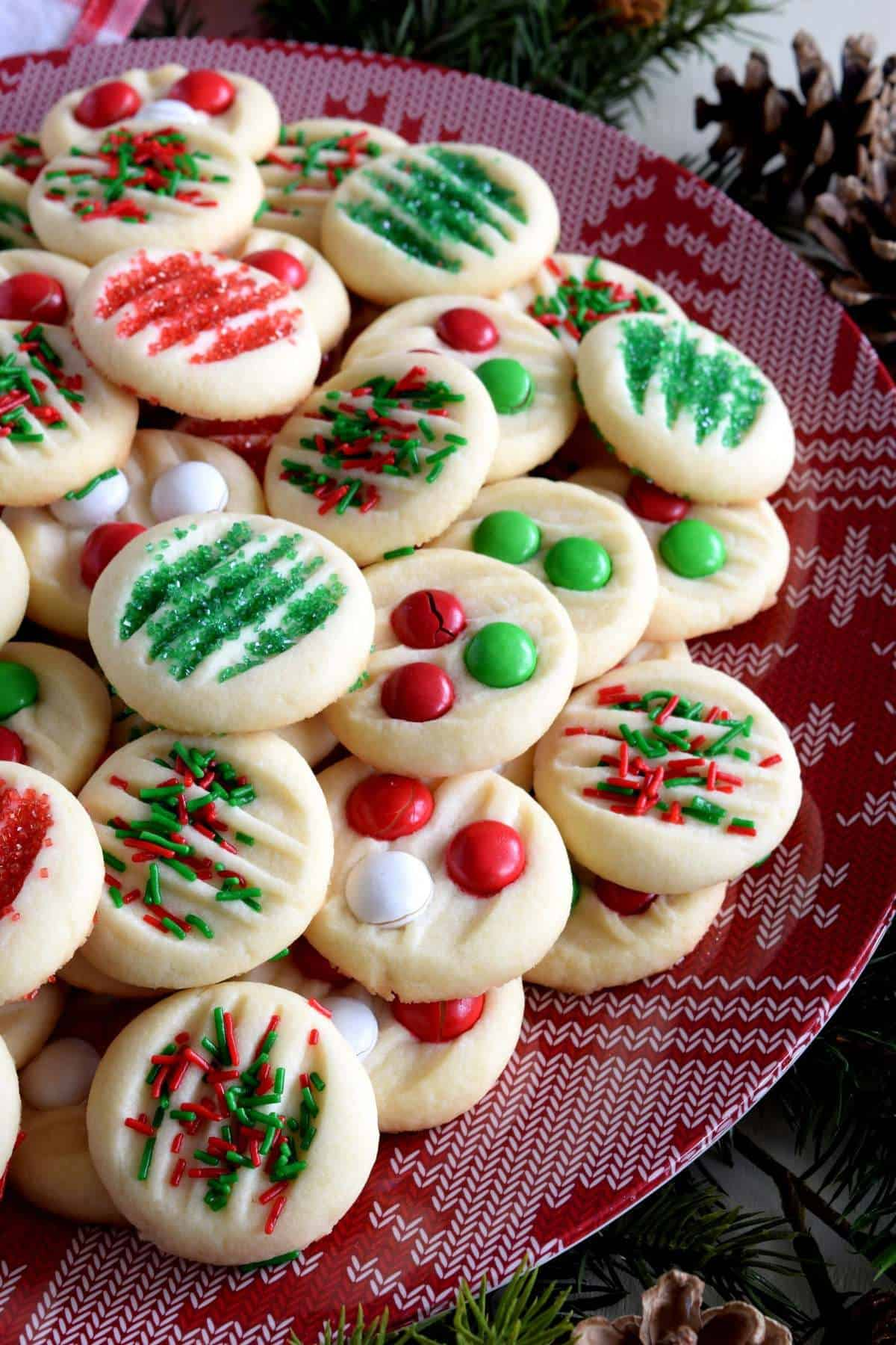 A tray full of Christmas cookie treats